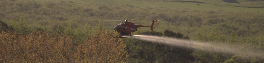 helisika helicopters spraying